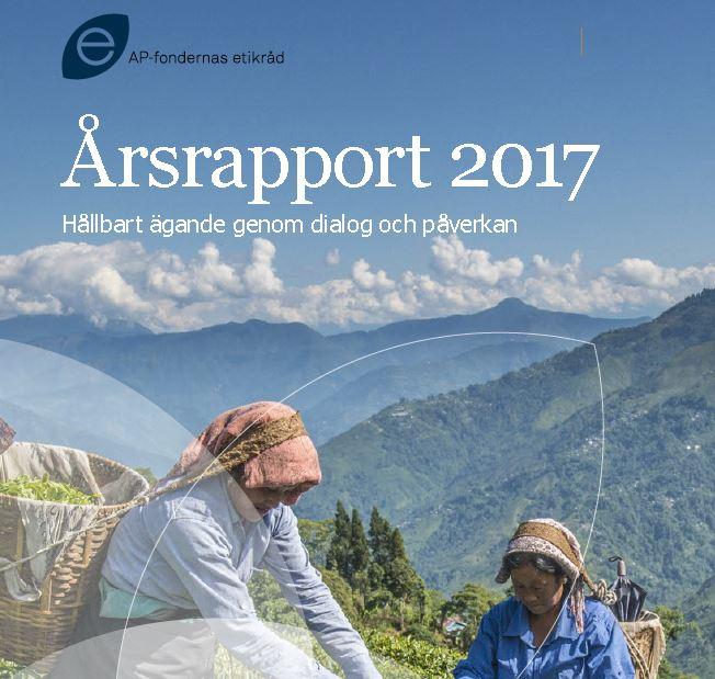Framsida Etikrådets årsrapport 2017