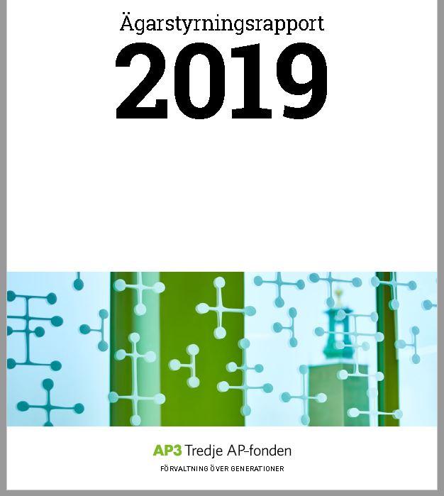 Framsida AP3s ägarstyrningsrapport 2019