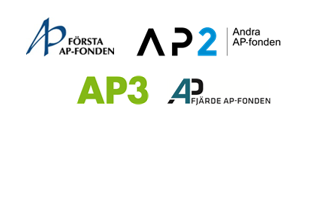 Logotypes for AP1, AP2, AP3, AP4