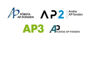 Logotyper för AP1, AP2, AP3, AP4