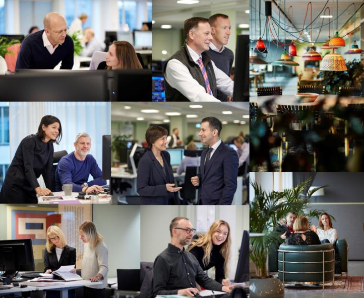 Collage med foton på medarbetare