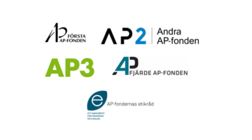 All logos of Swedish national pension funds