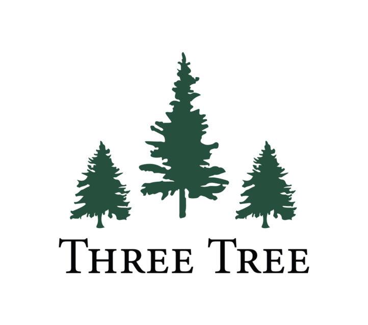 Three tree logo with three green trees